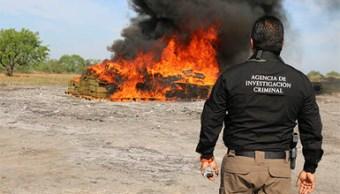 PGR incinera más de dos toneladas de marihuana y narcóticos en Reynosa