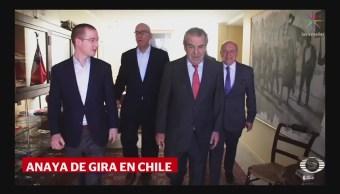 Ricardo Anaya visita Chile para reunirse con expresidentes