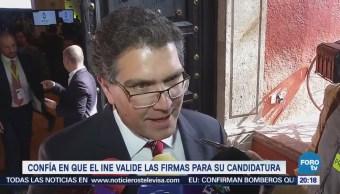 Ríos Piter confía en que el INE valide las firmas para su candidatura