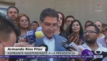 Ríos Piter interpone demanda ante TEPJF por revisión de apoyos en INE