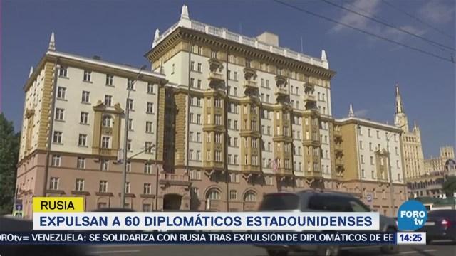 Rusia expulsa a 60 diplomáticos estadounidenses
