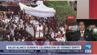 Saldo blanco durante Viernes Santo en Taxco, Guerrero