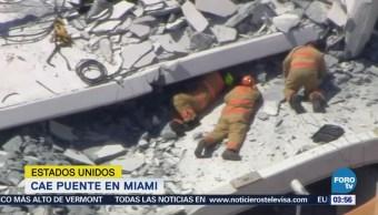 Se eleva a seis la cifra de muertos por colapso de puente en Miami