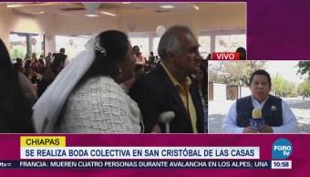 Se realiza boda colectiva en San Cristóbal de las Casas