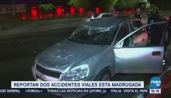 Registran Dos Accidentes Viales Madrugada Cdmx