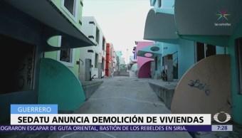 Sedatu Guerrero informa que el 20 de marzo inicia demolición del Mirador
