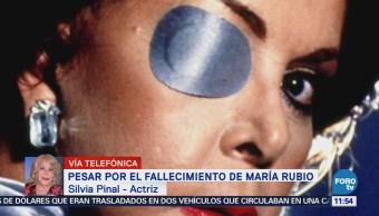 Silvia Pinal lamenta la muerte de María Rubio