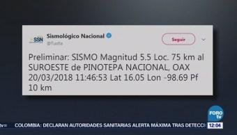 Sismológico reporta un temblor de magnitud 5 en Oaxaca