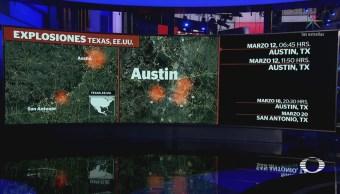 Suman cinco ataques con paquetes explosivos en Texas