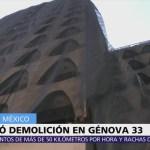 Termina demolición del edificio afectado en Génova 33 tras sismo