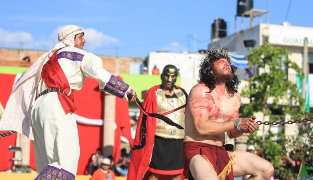 Realizan representación 224 de la Judea en San Martín de las Flores