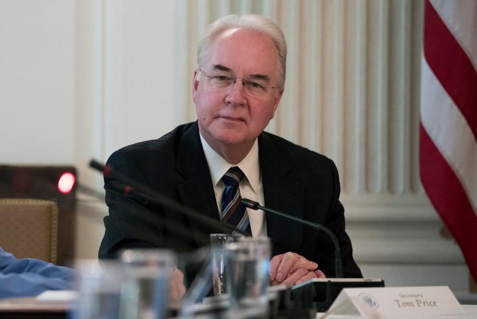 Tom Price, secretario de Salud hasta 29 de septiembre 2017