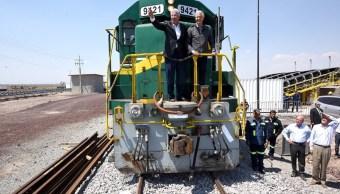 arranca actividad ferroviaria transportar materiales nuevo aeropuerto