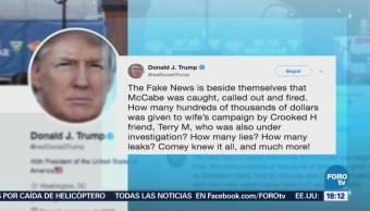 Trump celebra el despido de exsubdirector del FBI