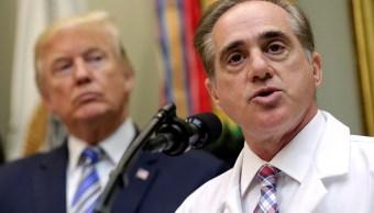 Trump nombra médico presidencial secretario asuntos veteranos