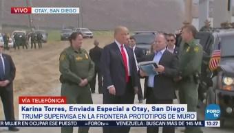 Trump Supervisa Prototipos Muro Fronterizo San Diego, California