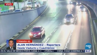 Viaducto y Cuauhtémoc presentan buen avance vehicular