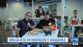 Viernes culinario: Molcajete de mariscos y aguachile estilo Sinaloa