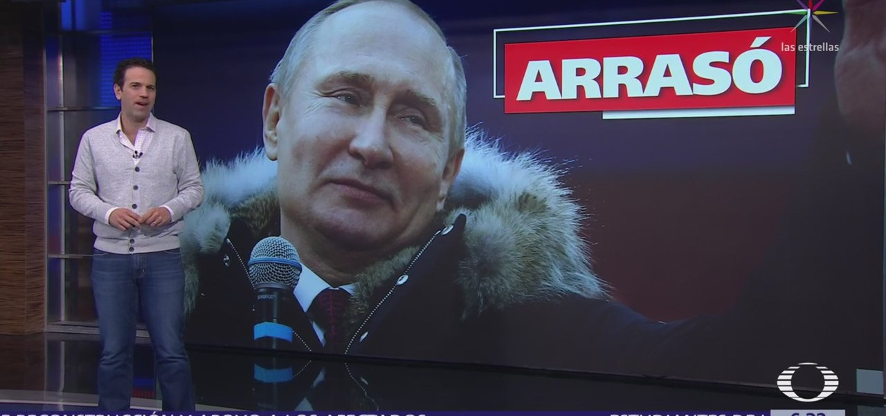 Vladimir Putin gana elección presidencial de Rusia por cuarta ocasión