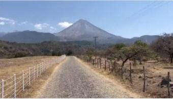 Volcán de Fuego, uno de los principales atractivos turísticos de Colima