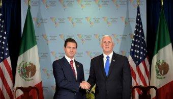 "Peña Nieto se reúne con Mike Pence, vicepresidente de EU; destaca necesidad de ""respeto mutuo"""