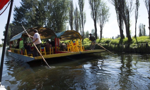 La vida cambia por un momento en los canales de Xochimilco