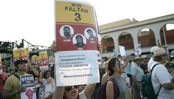 Protesta por muerte de estudiantes Jalisco