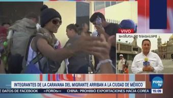 Integrantes Caravana 'Viacrucis Migrante' Llega Cdmx