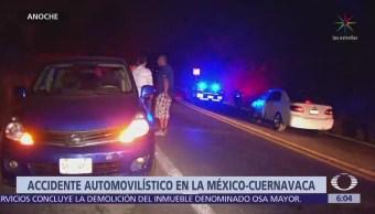 Accidente en la México-Cuernavaca deja un muerto