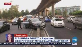 Accidente en Periférico y Antiguo Camino a Santa Teresa