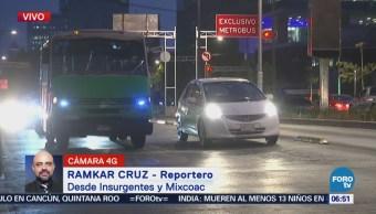 Accidente vehicular deja un lesionado en avenida Revolución, CDMX