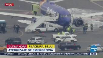 Aeronave aterriza de emergencia en Filadelfia