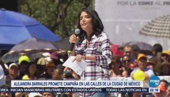 Alejandra Barrales Promete Campaña Calles Ciudad De México