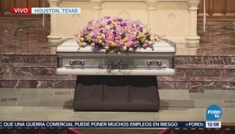 Alistan funeral de Barbara Bush en Texas
