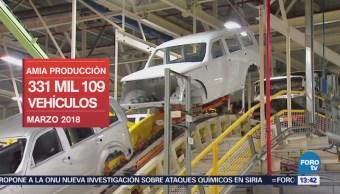 Amia Informa Producción Marzo 331 Mil 109 Unidades