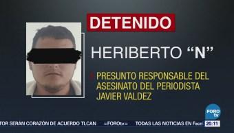 Anuncian captura de presunto homicida del periodista Javier Valdez