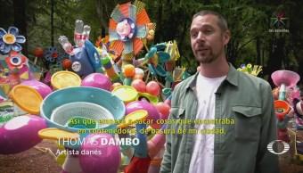 Artista Danés Presenta Arte Reciclaje Cdmx