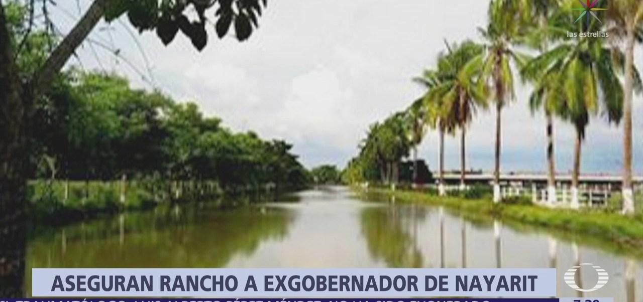 Aseguran rancho al exgobernador de Nayarit Roberto Sandoval