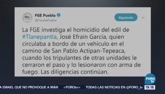 Asesinan Edil Tlanepantla Puebla José Efraín García