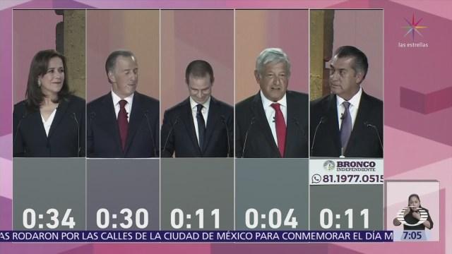 Así fue el primer debate presidencial, en el Palacio de Minería CDMX