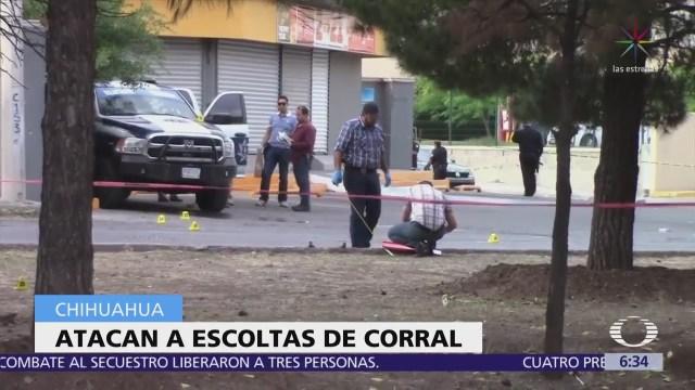 Atacan a escoltas del gobernador Javier Corral en Chihuahua