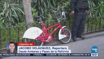 Atropellan a un ciclista en Paseo de la Reforma