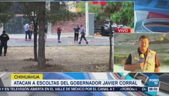 Autoridades buscan a atacantes de escoltas del gobernador Javier Corral
