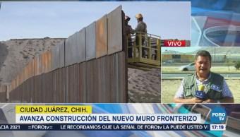 Avanza Construcción Nuevo Muro Fronterizo