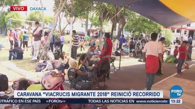Avanza Viacrucis Migrante Puebla Matías Romero, Oaxaca, Aquiles Serdán, Puebla