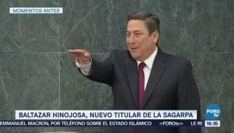 Baltazar Hinojosa, nuevo titular de Sagarpa