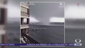 Captan enorme tornado en Florida