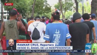 Caravana de migrantes se dirige a la embajada de Estados Unidos