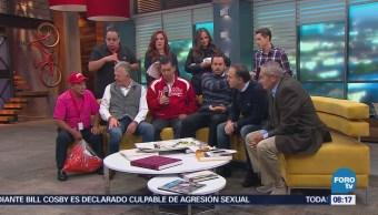 Carlos Loret invita los tacos en Matutino Express
