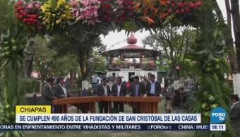 Celebran 490 Años Fundación San Cristóbal Casas, Chiapas